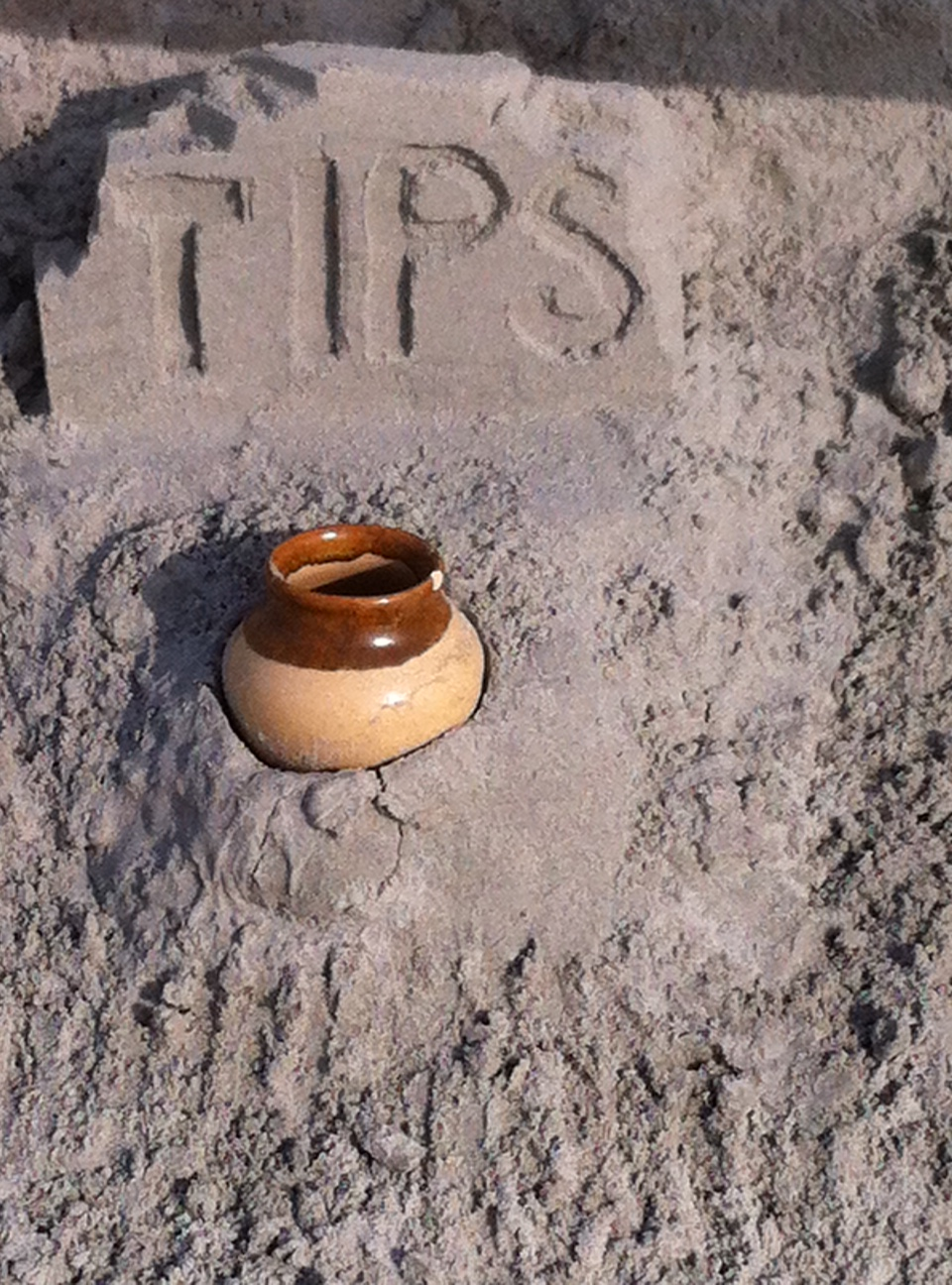 Don't tip in Sand Dollars