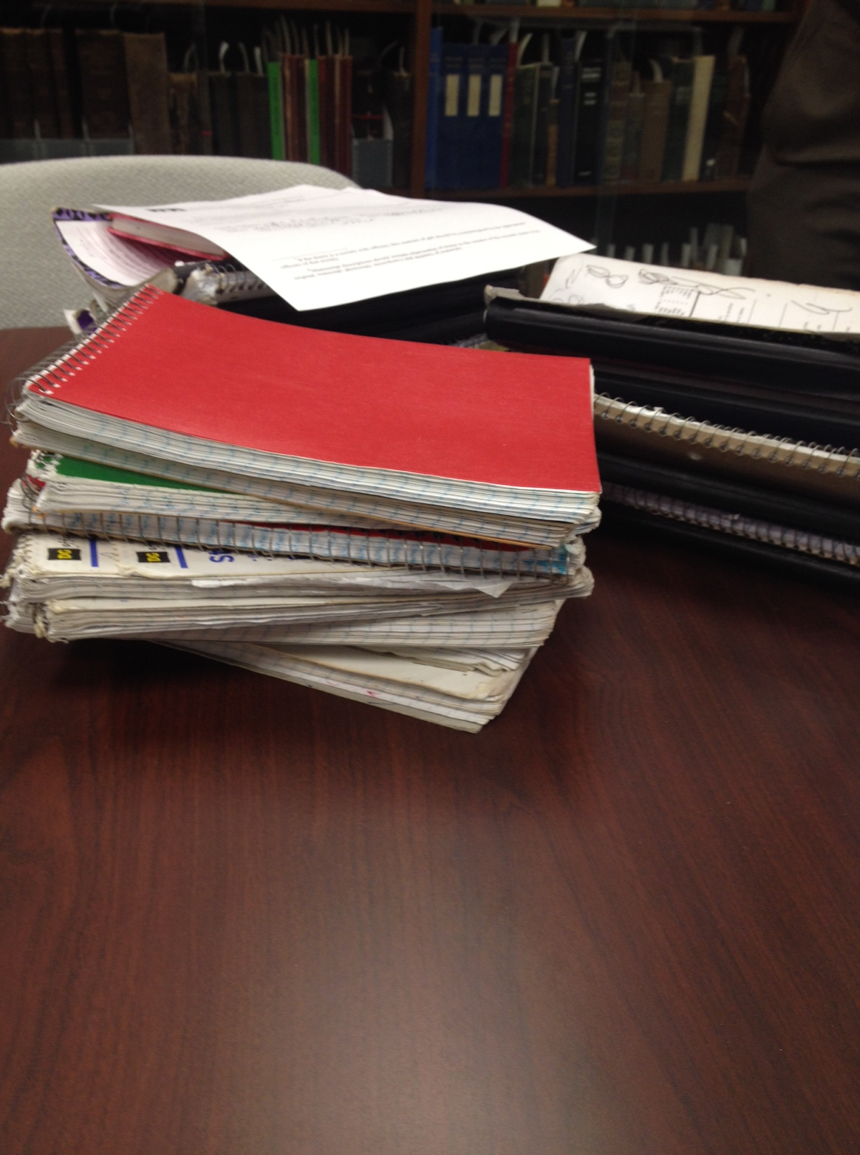 Stacks and stacks of notebooks!