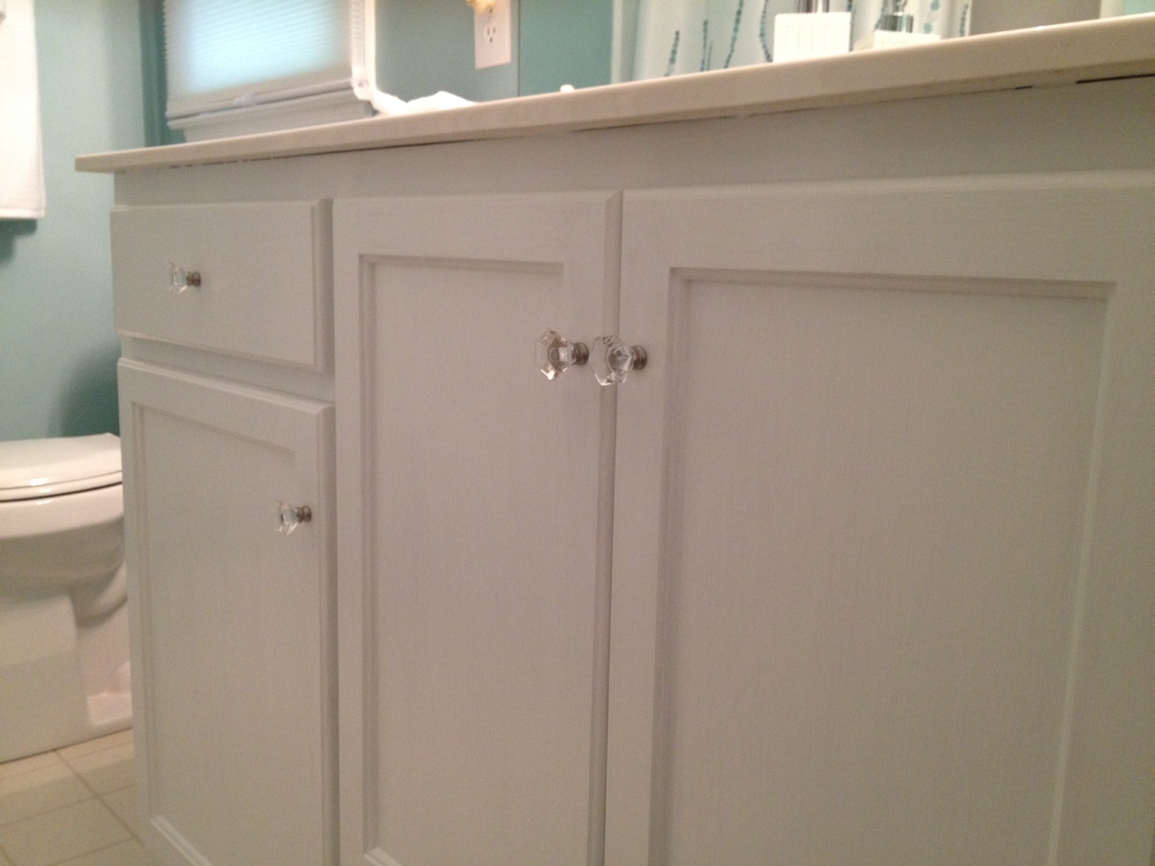 Sparkly White Cabinets