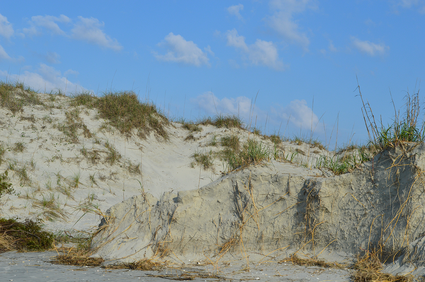 I can't believe how much of the dunes washed away